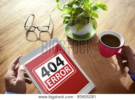 404 Error Warning Digital Device Wireless Browsing Concept