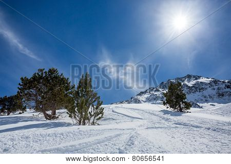 Landscape Of The Mountains In Pyrenees