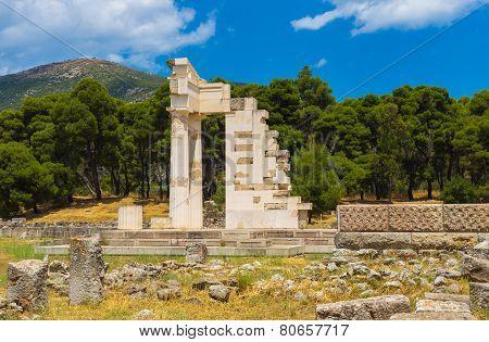 ruins of Asclepeion, Argolida, Greece