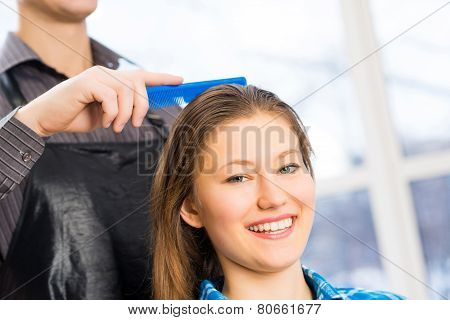 hairdresser and client