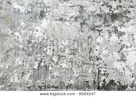 Gray Wall With Stains And Cracks - Background