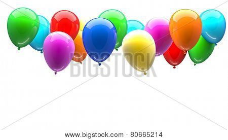 3d image of colored balloon