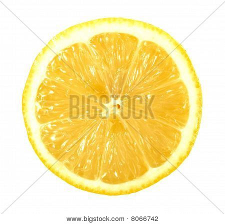 Single Cross Section Of Lemon