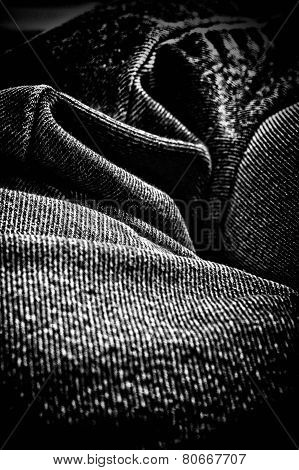 Abstract Denim Folds Artistic Finish
