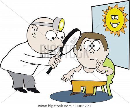 Doctor examination cartoon