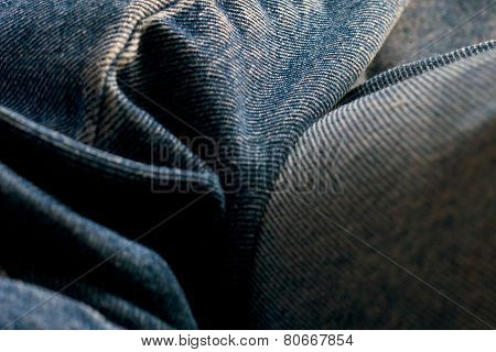 Close Up Abstract Blue Jeans