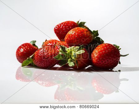 Strawberry and Leaves