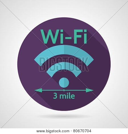 Wireless network flat vector icon
