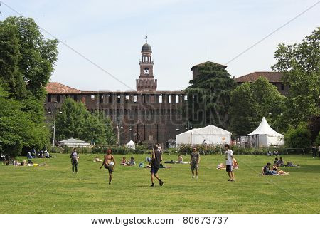 Milan Sforza Castle and its park