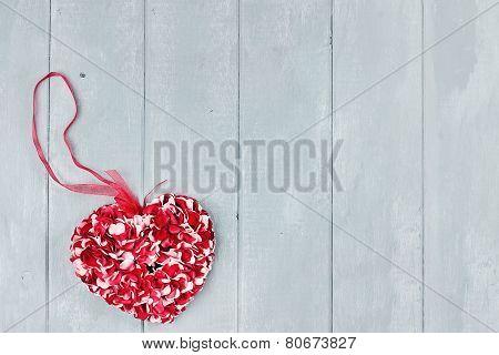 St. Valentine's Day Flower Petals Heart