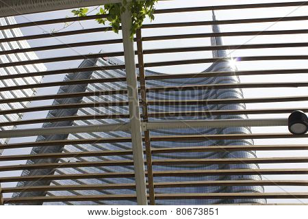 Architectural Detail Of Unicredit Tower Building