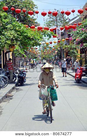 The Main Street Of Hoi An, Vietnam.