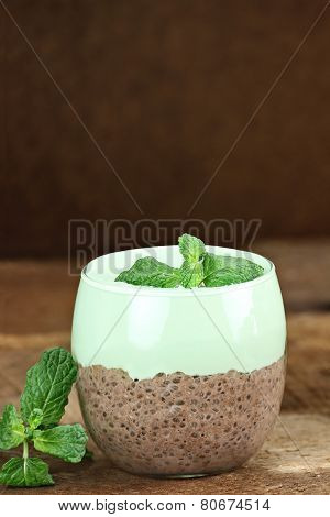 Chocolate Mint Chia Seed Pudding