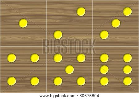 Dice Cube Wooden Texture