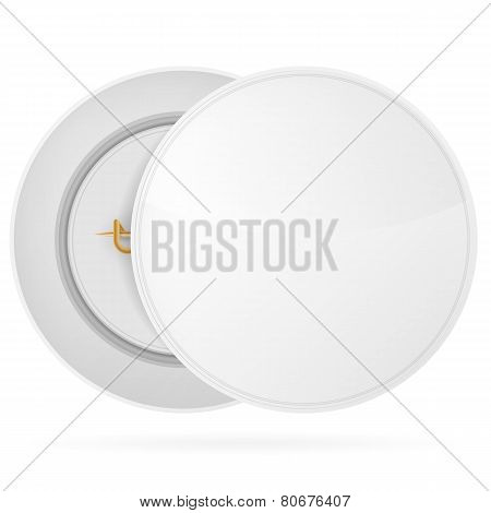 Vector illustration of white blank circle badge