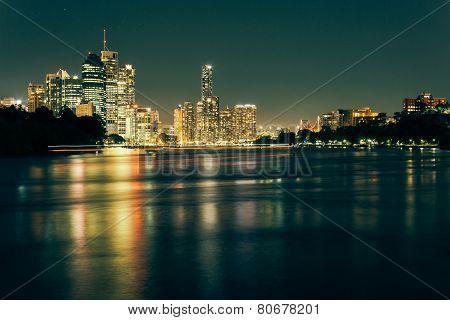Modern Australian City At Night