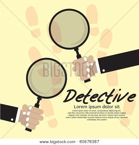 Detective Vector Illustration Concept.