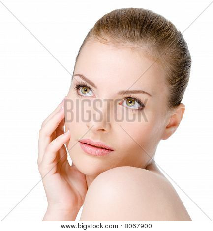 Woman With Sensuality Expression On Face