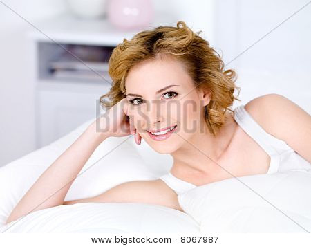 Portrait Of Smilinf Woman Relaxing