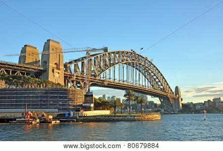 Sydney Harbour Bridge In Early Morning Sunshine