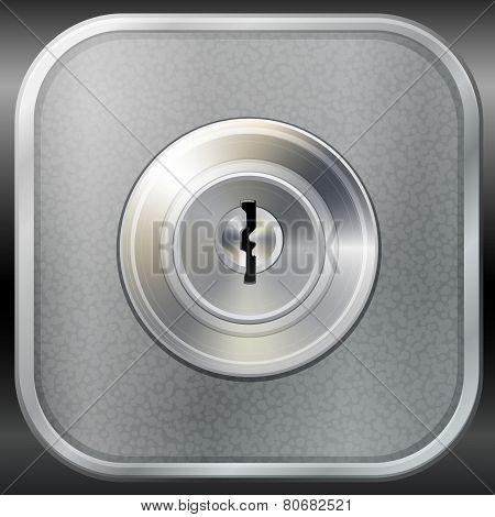 Vector Keyhole On Metal