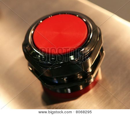 Red Power Button Close-up