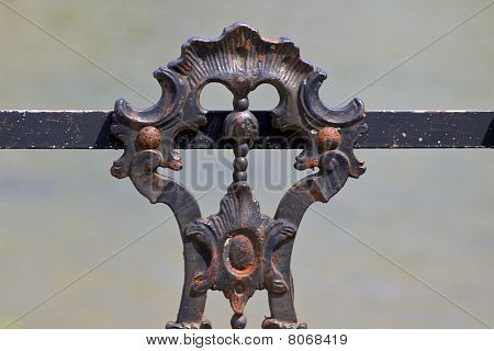 Rusty iron gate (detail)
