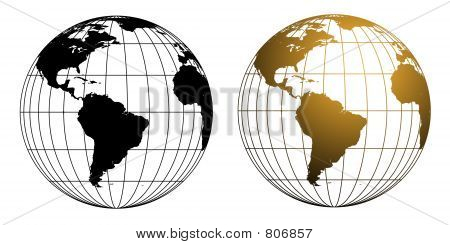 wireframe Globe Set