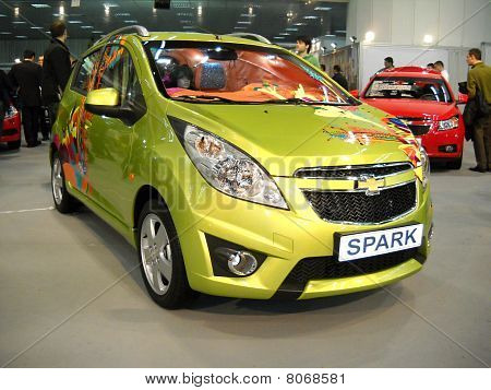 Chevrolet Spark car in Belgrade car show
