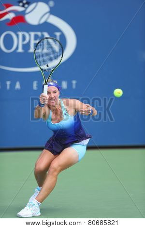 Grand Slam Champion Svetlana Kuznetsova from Russia during US Open 2014 first round match