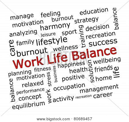 Work Life Balance wordcloud