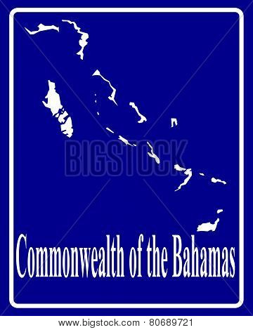 Silhouette Map Of Commonwealth Of The Bahamas