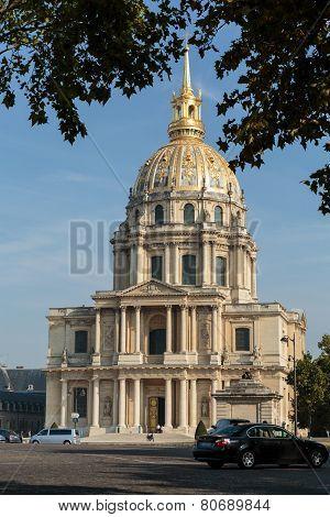 View of Dome des Invalides burial site of Napoleon Bonaparte Paris France