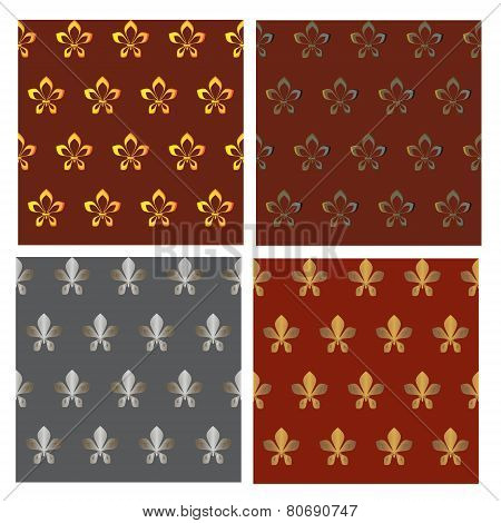seamless textures-patterned fabric 3-vector illustration