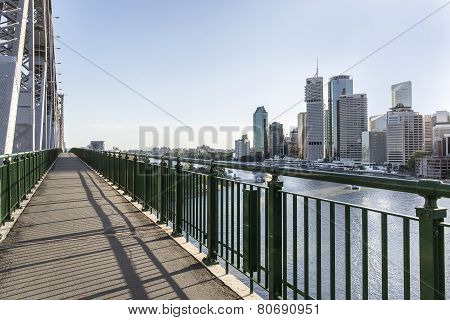 Brisbane Story Bridge architecture and cityscape