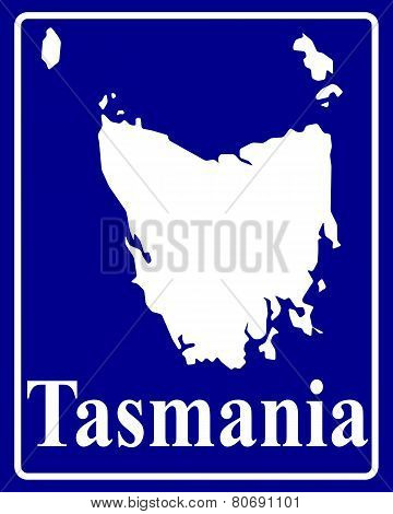 Silhouette Map Of Tasmania