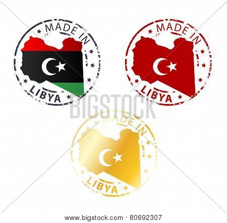 Made In Libya Stamp