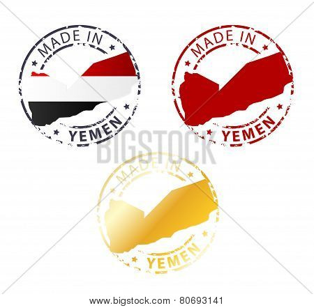 Made In Yemen Stamp
