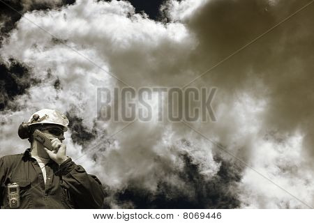 engineer and toxic clouds