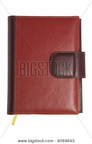 Blank Red Soft Leather Covered Book