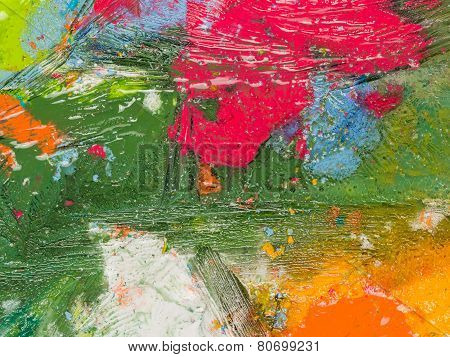 Bright Spots Of Paint