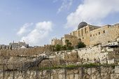 picture of aqsa  - Southern Wall of Temple Mount in Jerusalem - JPG