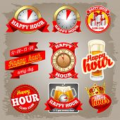 picture of swag  - Set of happy hour labels for restaurant - JPG
