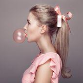 image of barbie  - Beautiful blonde woman - JPG