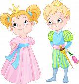 foto of princess crown  - Illustration of very cute Prince and Princess - JPG