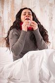 picture of sneezing  - Sneezing beauty - JPG