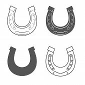 stock photo of horseshoe  - Horseshoes - JPG