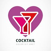 image of cocktail menu  - Abstract logo design template - JPG