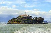 picture of alcatraz  - The Alcatraz Penitentiary now a museum in San Francisco California United States of America - JPG