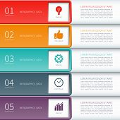pic of step-up  - Modern minimal colorful infographics elements - JPG